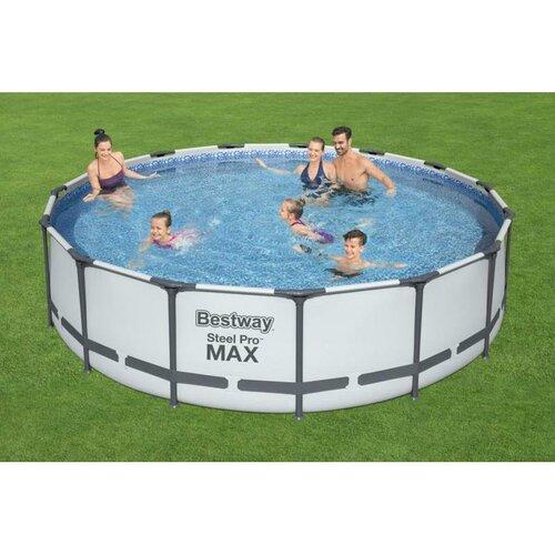 Bestway Nadzemní bazén Steel Pro MAX s filtrací, schůdky a plachtou, pr. 457 cm, v. 107 cm