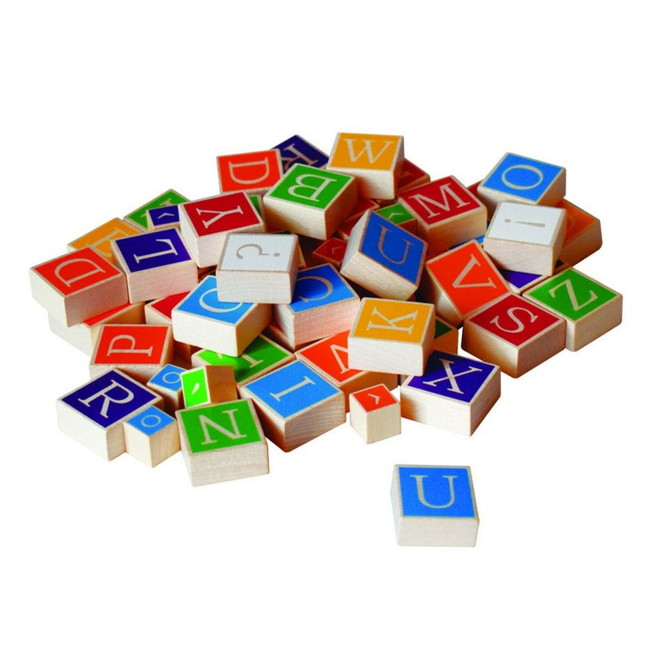 Detoa dřevěná abeceda v krabici 23x23x5cm