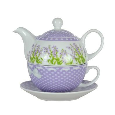 LAVENDER 3dílná čajová sada