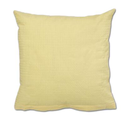 Povlak na polštářek krep žlutá, 40 x 40 cm