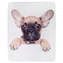 "Koc Jerry Fabrics ""Puppy Bulldog"" mikroflanela, 120x150cm"