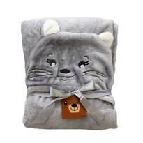 Domarex Dětská deka CAT šedá, 75 x 130 cm