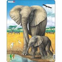 Larsen Puzzle Slon so sloníčaťom, 32 dielikov