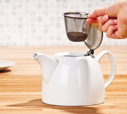 Konvice na čaj, bílá