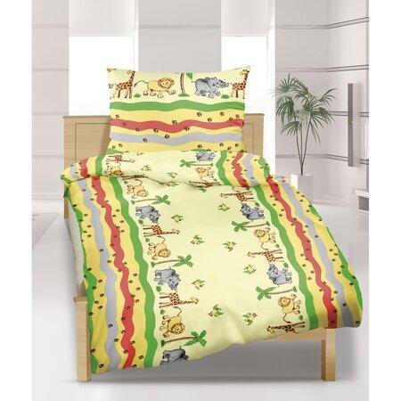 Pościel bawełniana dziecięca do łóżeczka, Safari, 90 x 135 cm, 45 x 60 cm