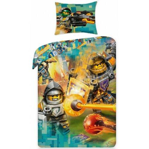 Halantex Dětské bavlněné povlečení Lego Nexo 383, 140 x 200 cm, 70 x 90 cm