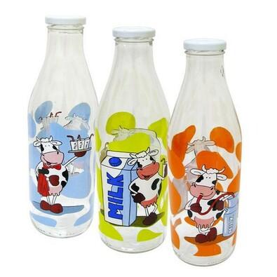 Láhev na mléko s motivem transparentní