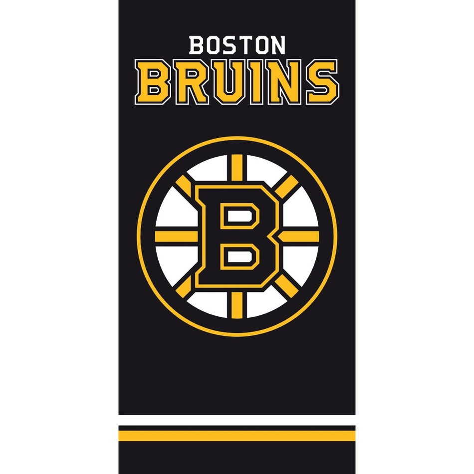 TipTrade Osuška NHL Boston Bruins Black, 70 x 140 cm