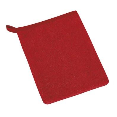 Žínka froté červená, 17 x 25 cm