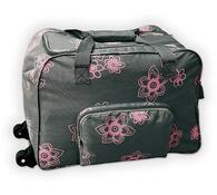 Sada cestovních tašek na kolečkách + kosmetická ta, růžová + šedá
