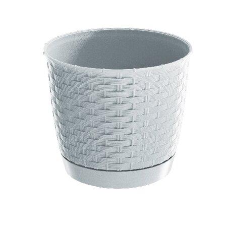Ghiveci plastic Ratolla Round, alb