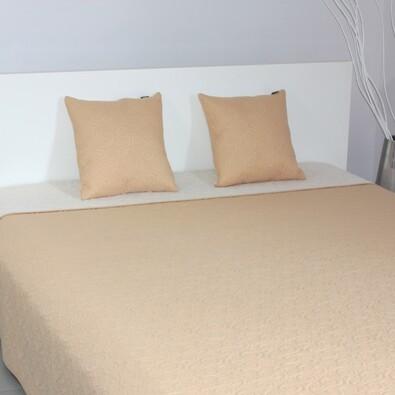 Přehoz na postel Maestri béžová a krémová, 220 x 240 cm