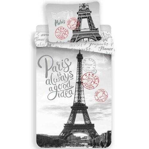Jerry Fabrics Bavlněné povlečení Paris Good Idea, 140 x 200 cm, 70 x 90 cm
