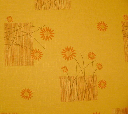 Teflonový ubrus Daisy, oranžová, 120 x 140 cm