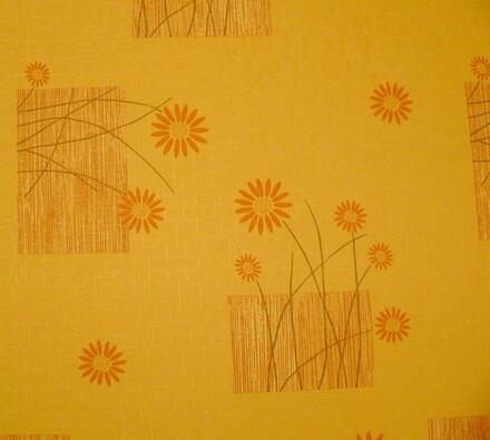 Teflonový ubrus Daisy, oranžová, 140 x 160 cm