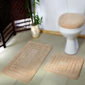 Sada koupelnových předložek Pearl béžová, 80 x 50 cm, 50 x 40 cm