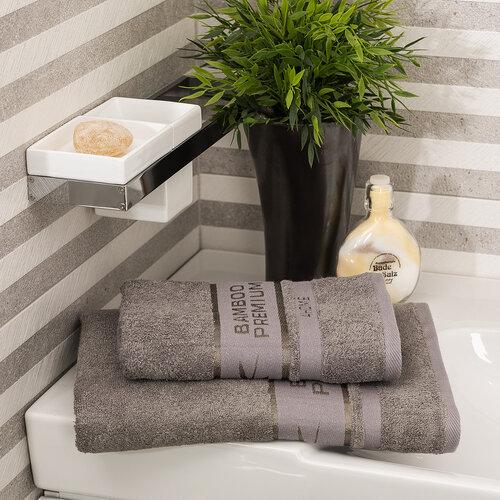 4Home fürdőlepedő Bamboo Premium szürke, 70 x 140 cm