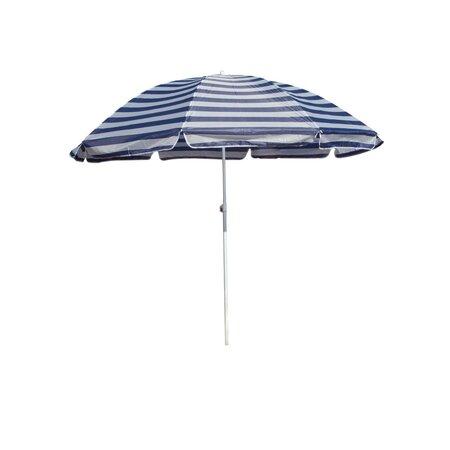 Happy Green Parasol plażowy niebieskie paski, 180 cm