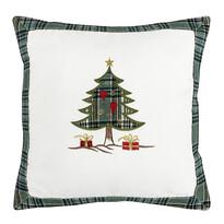 Vianočná obliečka na vankúšik Stromčeky, 40 x 40 cm