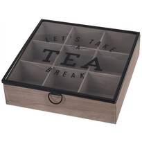 Box na čaj so skleneným vekom, MDF