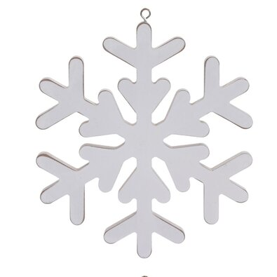 Vianočná závesná dekorácia Pienza 19 cm, biela