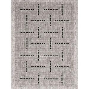 Spoltex Kusový koberec Floorlux silver/black 20008, 80 x 150 cm