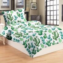Cactus mikroplüss ágynemű, 140 x 200 cm, 70 x 90 cm