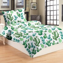 Lenjerie de pat din micro-pluș Cactus, 140 x 200 cm, 70 x 90 cm