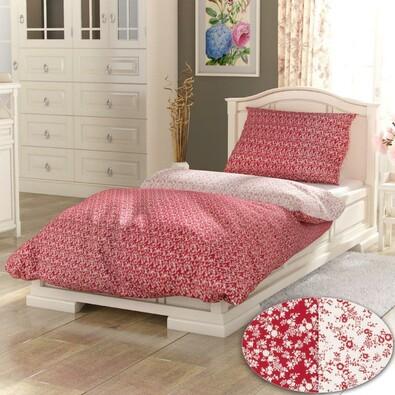 Bavlněné povlečení PROVENCE Collection Daisy červená, 140 x 200 cm, 70 x 90 cm