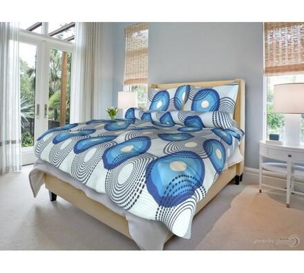 Bavlněné povlečení Lenka modrá, 140 x 200 cm, 70 x 90 cm