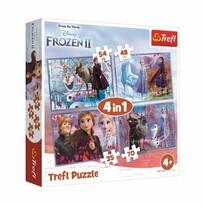 Trefl Puzzle Ľadové kráľovstvo 2 - Cesta do neznáma, 4v1