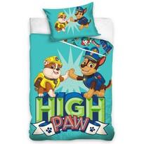 Lenjerie de pat, din bumbac, pentru copii,Patrula Cățelușilor High Paw, 100 x 135 cm