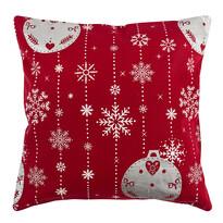 Vianočná obliečka na vankúšik Vianočné ozdoby červená, 40 x 40 cm