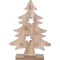 Vianočný drevený stromček Caulonia hnedá, 31 cm