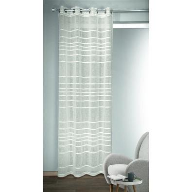 Draperie cu inele Albani Gino alb, 135 x 245 cm