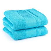4Home ručník Bamboo modrá, 50 x 100 cm, sada 2 ks