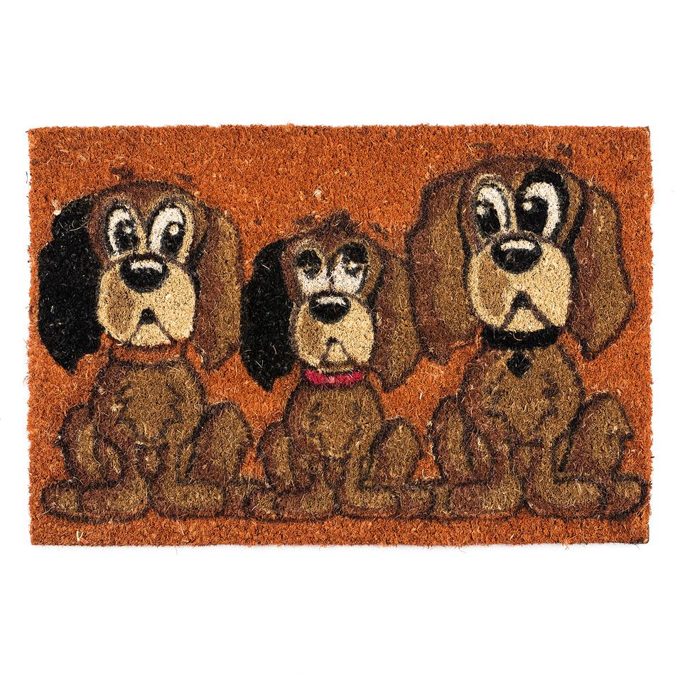 BO-MA Trading Kokosová rohožka Psi AN 1414 oranžová, 40 x 60 cm