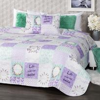 Cuvertură de pat 4 Home Lavender, 220 x 240 cm, 2 buc. 40 x 40 cm
