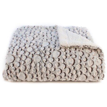 Beránková deka Petra hnědá, 150 x 200 cm