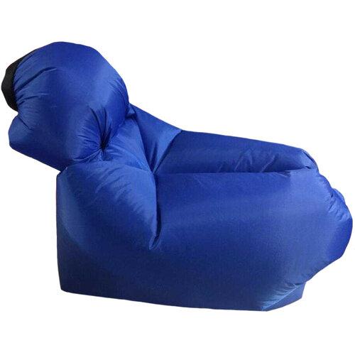 Samonafukovacie vrece na sedenie Lazy Bag, modrá