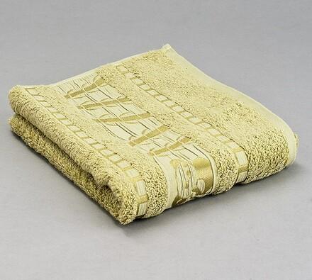 Sada 2 ks bambusových ručníků, zelená, světle zelená, 50 x 90 cm