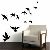 Sziluett Madarak öntapadó dekoráció, fekete
