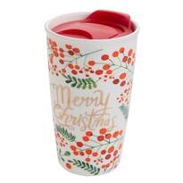 Florina Porcelánový termohrnček s viečkom Merry Christmas, 480 ml