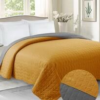 Domarex Cuvertură de pat Benita gri/muștar, 220 x 240 cm
