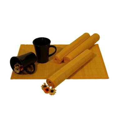 Bambusové prostírání žlutá, 30 x 45 cm, sada 4 ks