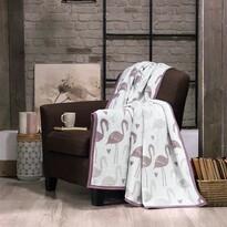 Matějovský márkájú Dark Flamingo takaró, 160 x 220 cm