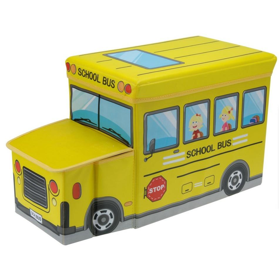Box na hračky a sedátko Školní autobus