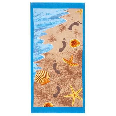 4Home Plážová osuška Stopy, 75 x 150 cm