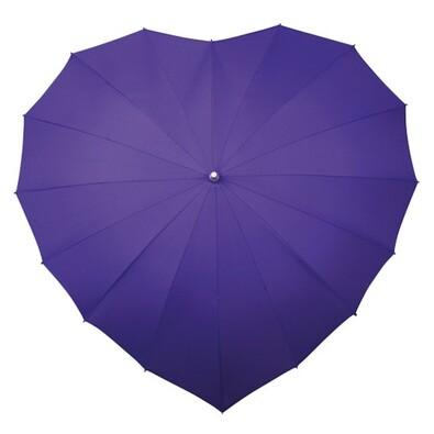 Dámský holový deštník srdce Heart fialová