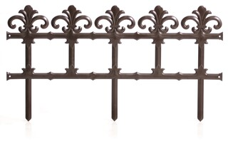 Art Kerti kerítés 34 cm – barna